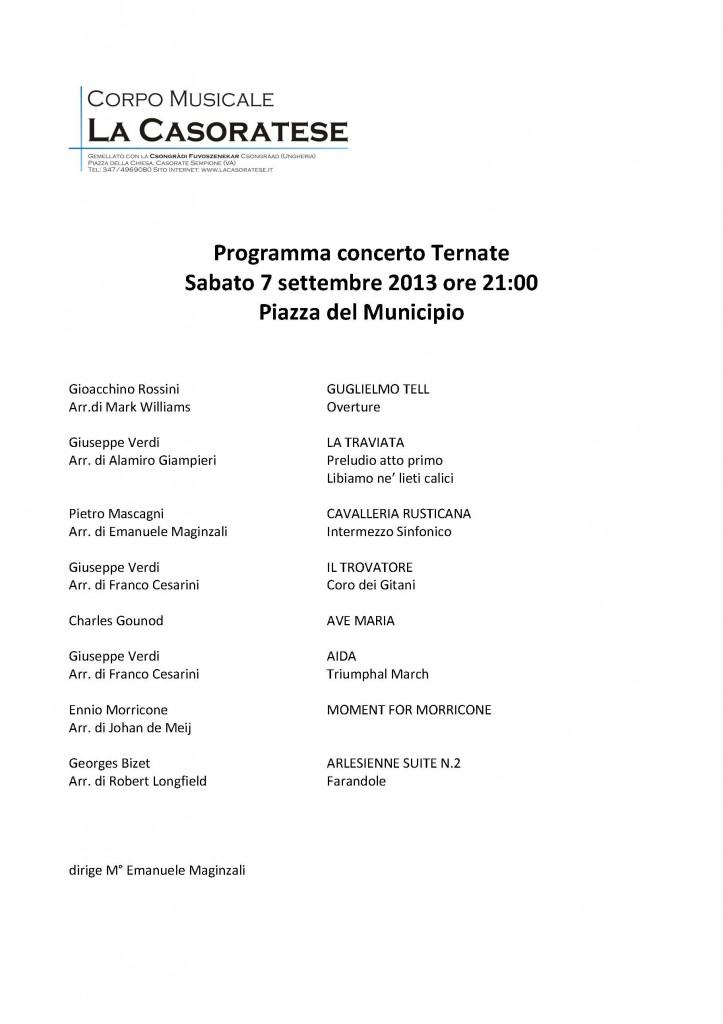 Programma concerto Ternate 7 settembre 2013 _1_