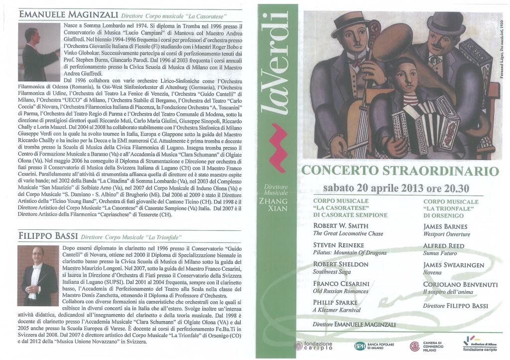 Banda-programma Auditorium Miìlano 20.4.2003-1