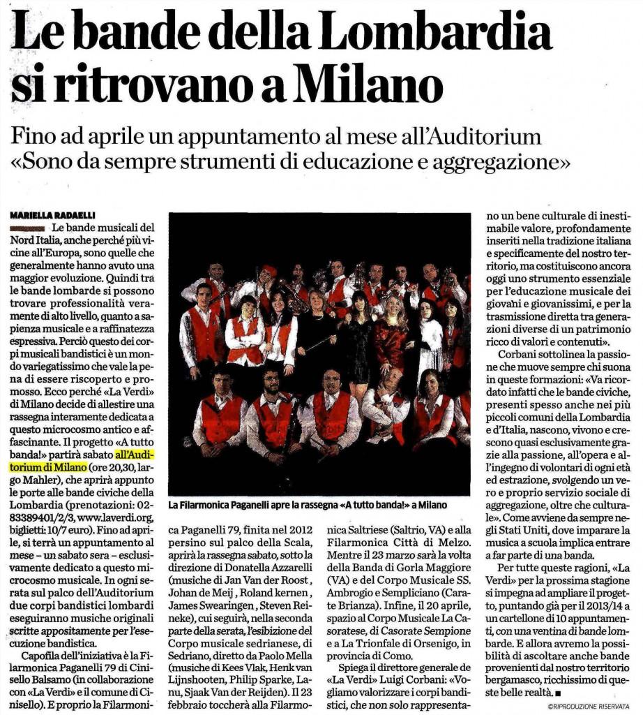 L'Eco di Bergamo, A tutta banda!